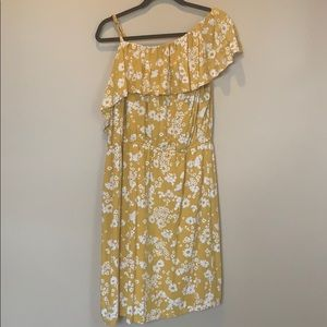 Old Navy One Sleeve Lined Floral Dress